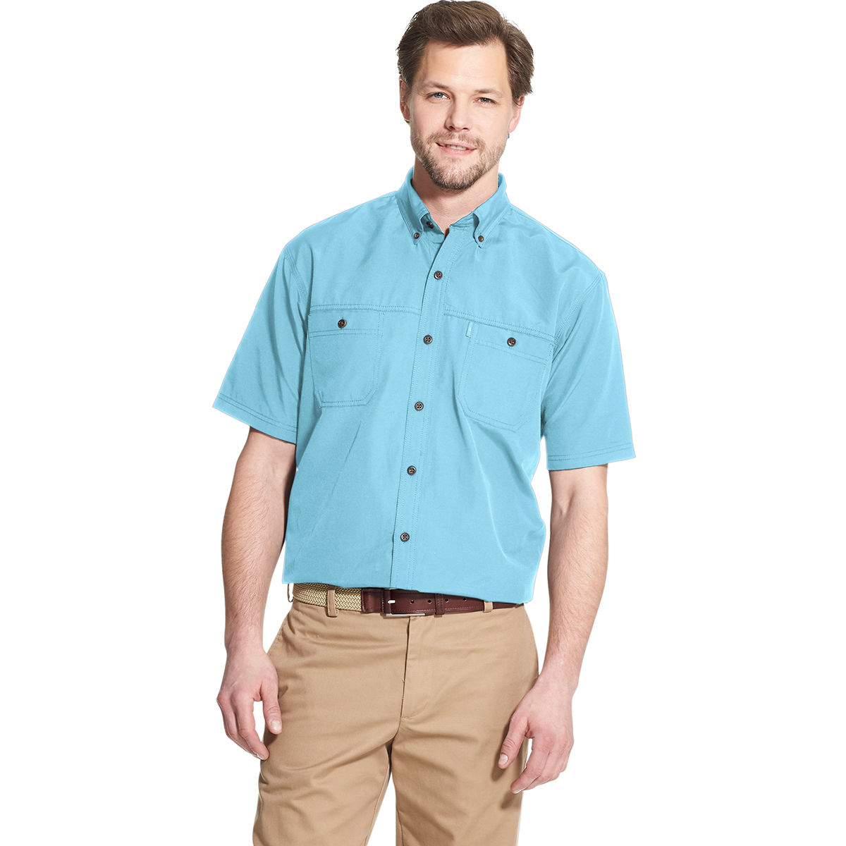 G.H. BASS Men's Bluewater Bay Fisherman's Short-Sleeve Shirt