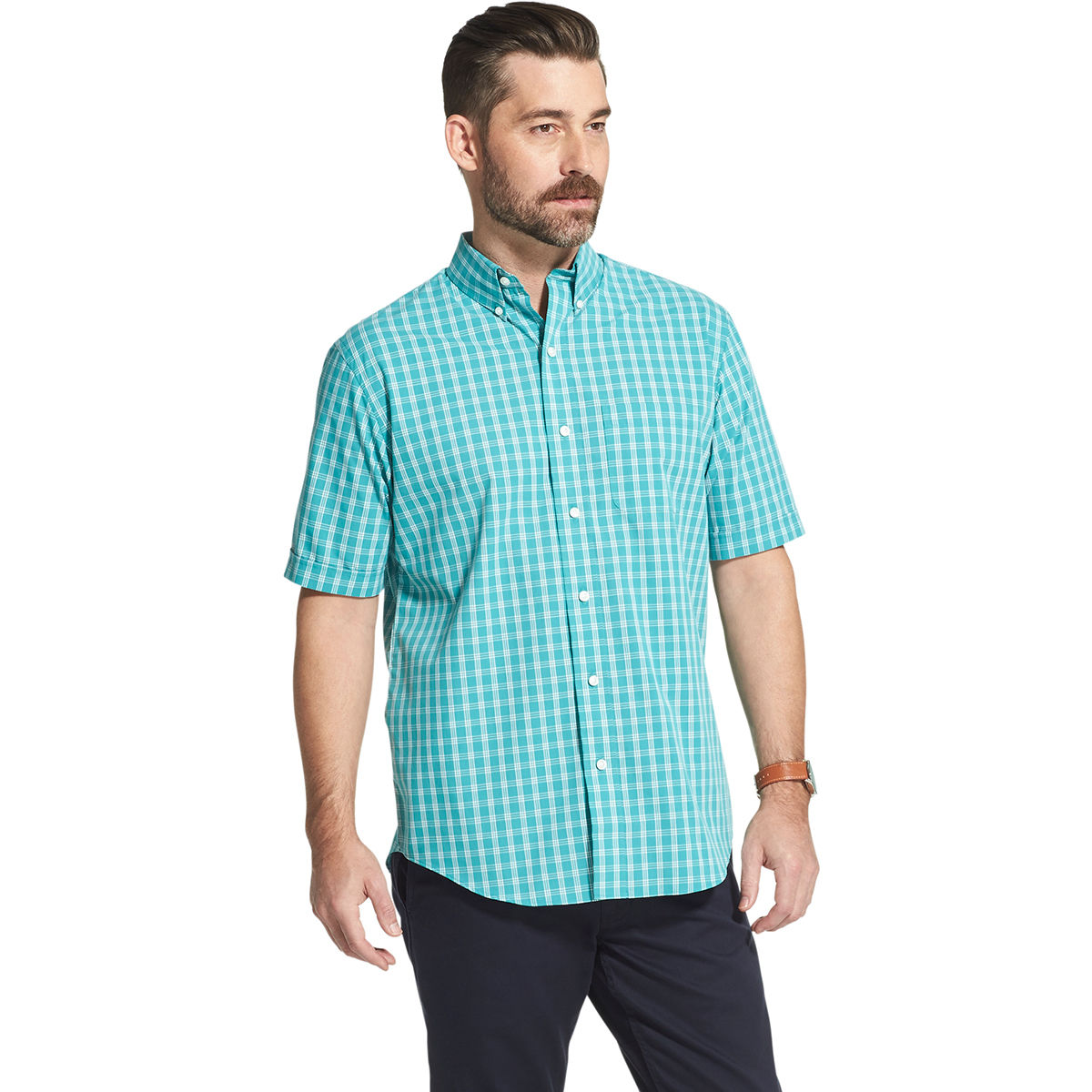 Arrow Men's Hamilton Short-Sleeve Shirt - Green, L