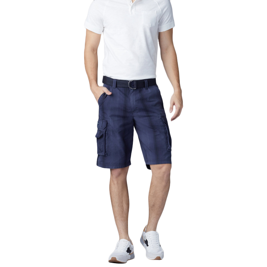 LEE Men's Belted Wyoming Cargo Shorts - Blue, 36
