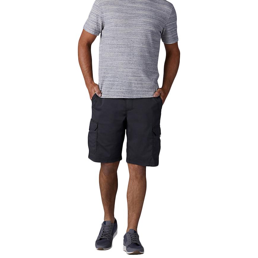 LEE Men's Cross Road Canvas Cargo Shorts - Black, 38