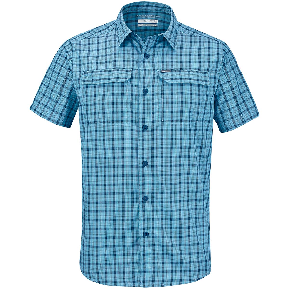 Columbia Men's Silver Ridge 2.0 Multi Plaid Short-Sleeve Shirt - Blue, L