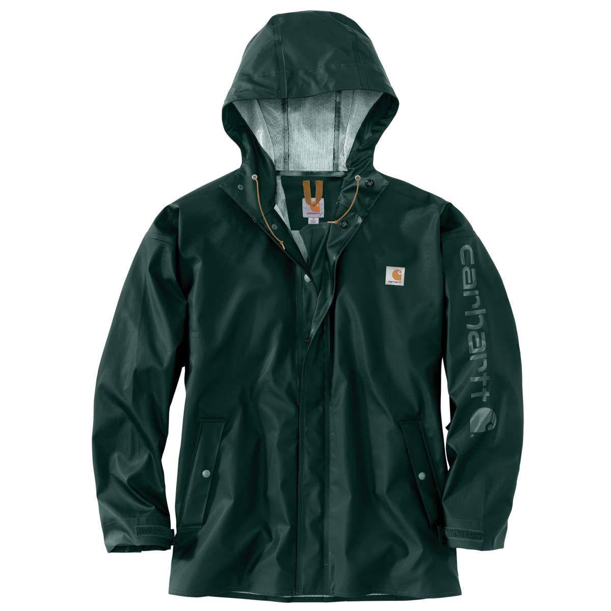 Carhartt Men's Lightweight Waterproof Rainstorm Jacket - Green, XXL