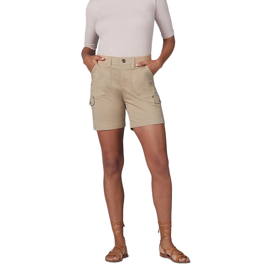 LEE Women's Flex to Go Cargo Shorts - Brown, 14