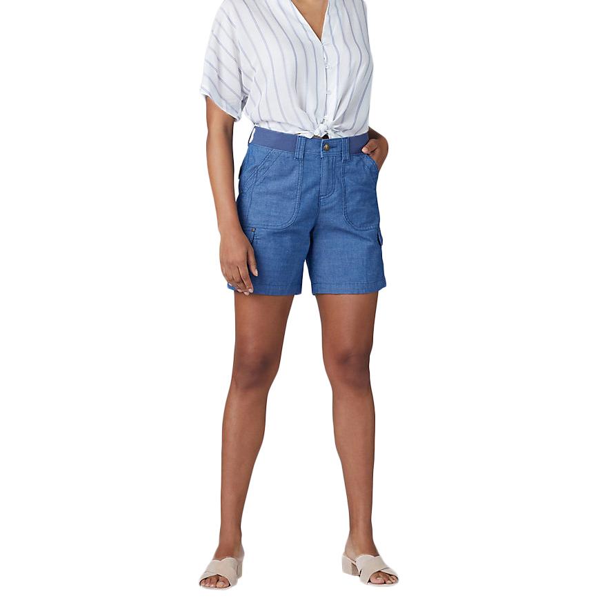 LEE Women's Flex to Go Cargo Shorts - Blue, 8
