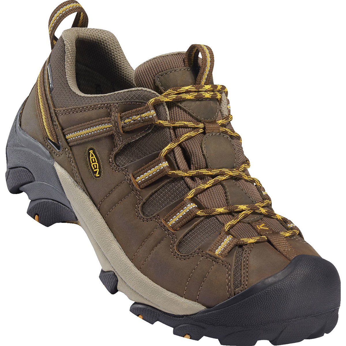 Keen Men's Targhee Ii Waterproof Low Hiking Shoes, Wide - Brown, 10.5