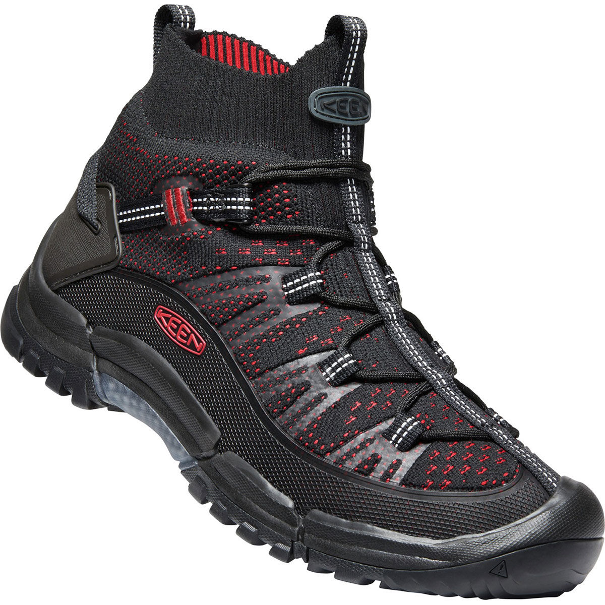 Keen Men's Axis Evo Mid Knit Hiking Boots - Black, 13