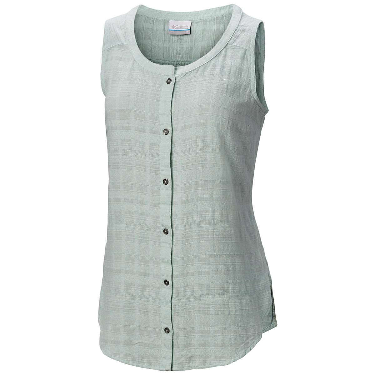 Columbia Women's Summer Ease Sleeveless Shirt - Green, M