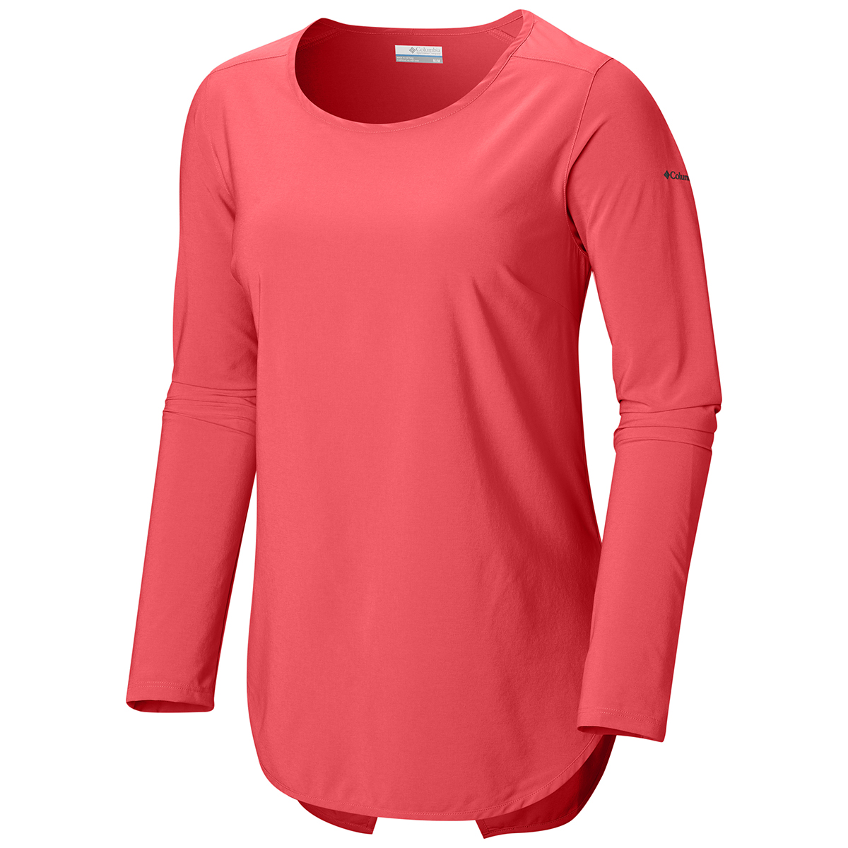 Columbia Women's Place To Place Long-Sleeve Sun Shirt - Red, S