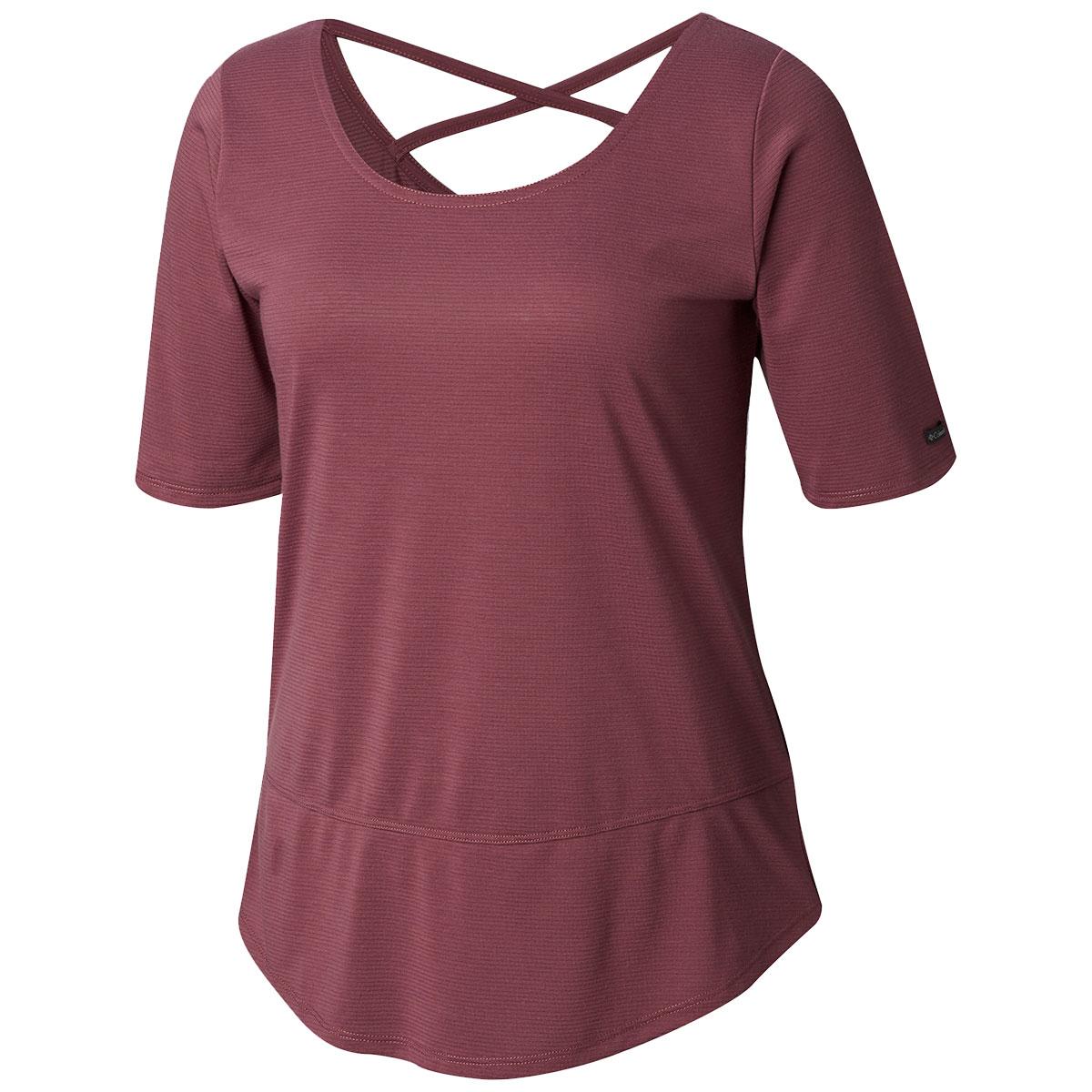 Columbia Women's Anytime Casual Short-Sleeve Shirt - Purple, M