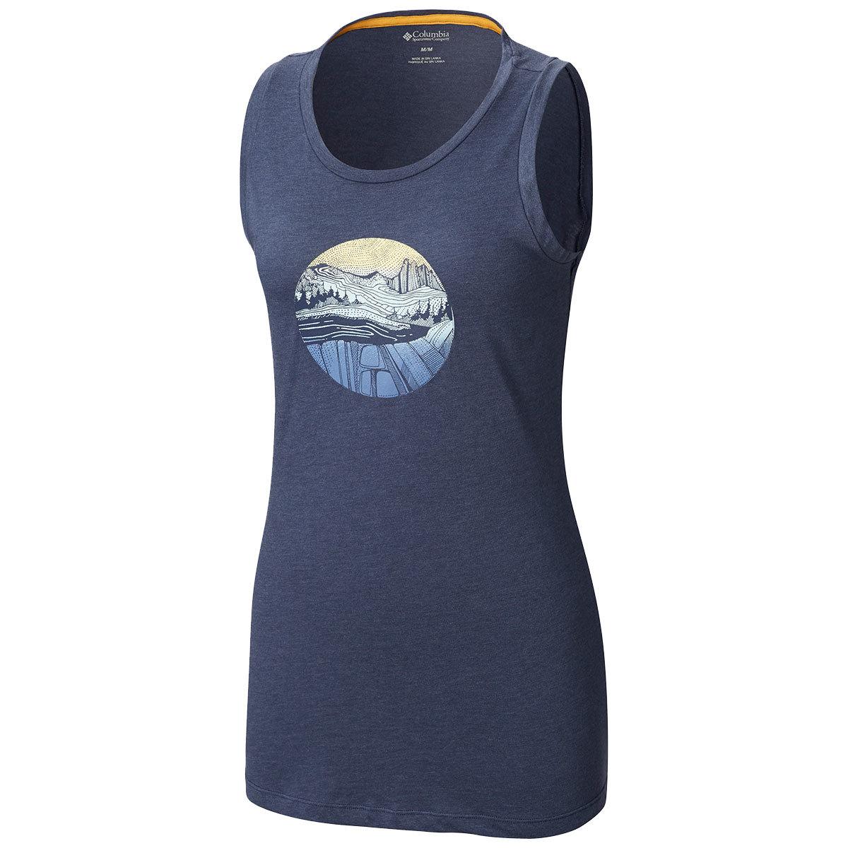 Columbia Women's Sandy Trail Graphic Tank Top - Blue, M