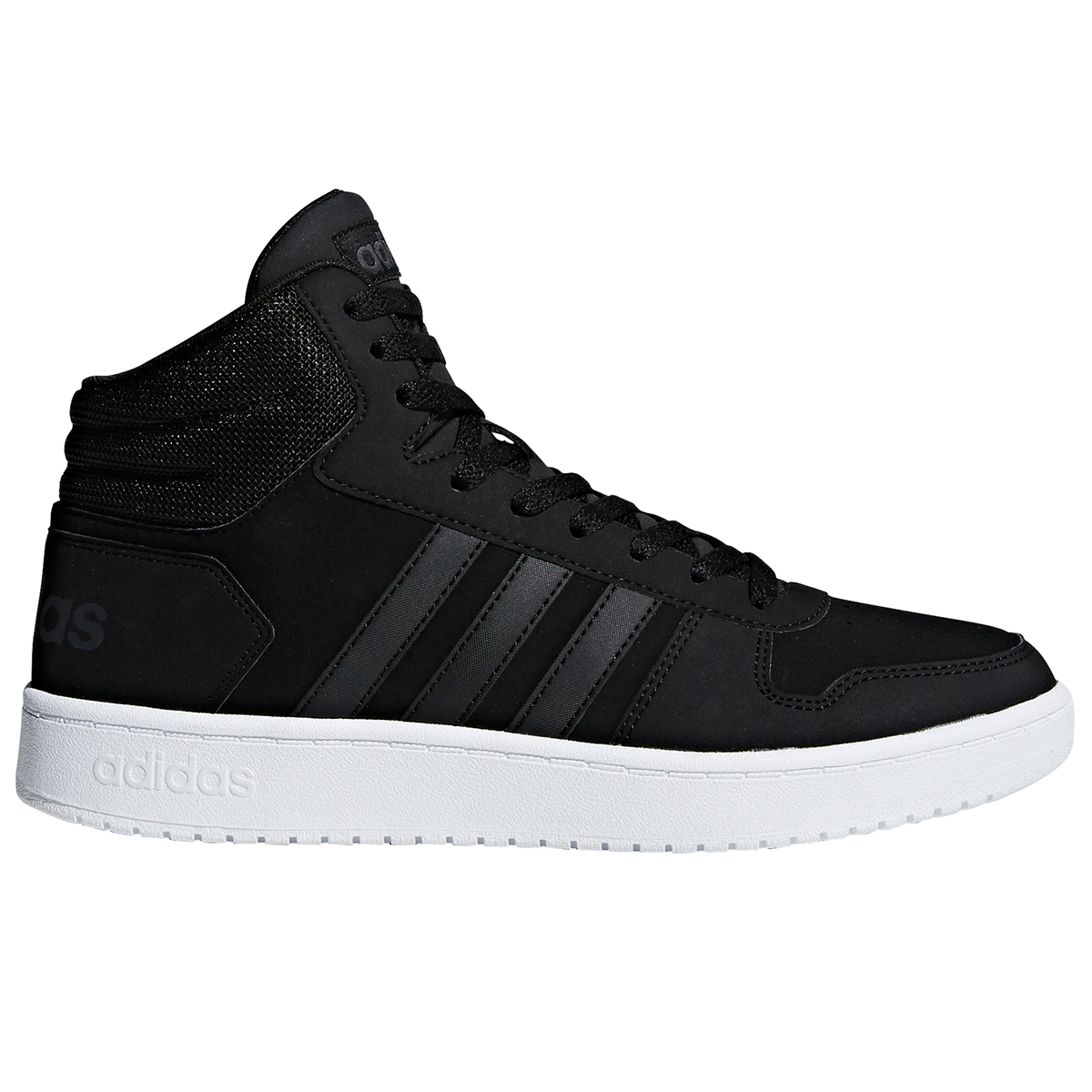 Adidas Men's Hoops 2.0 Mid Basketball Shoes - Black, 9