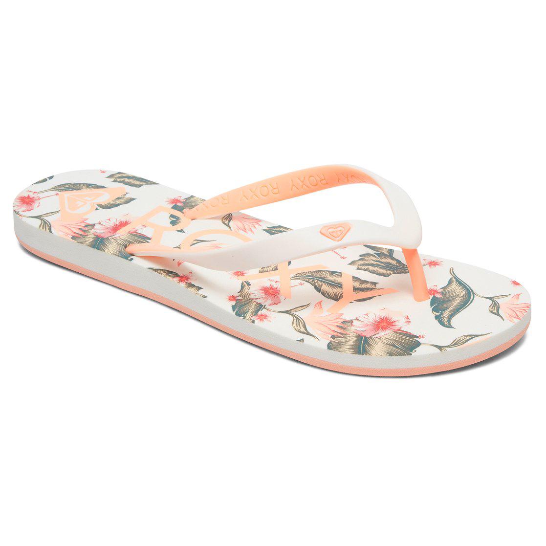 Roxy Women's Tahiti Vi Flip-Flops - White, 9