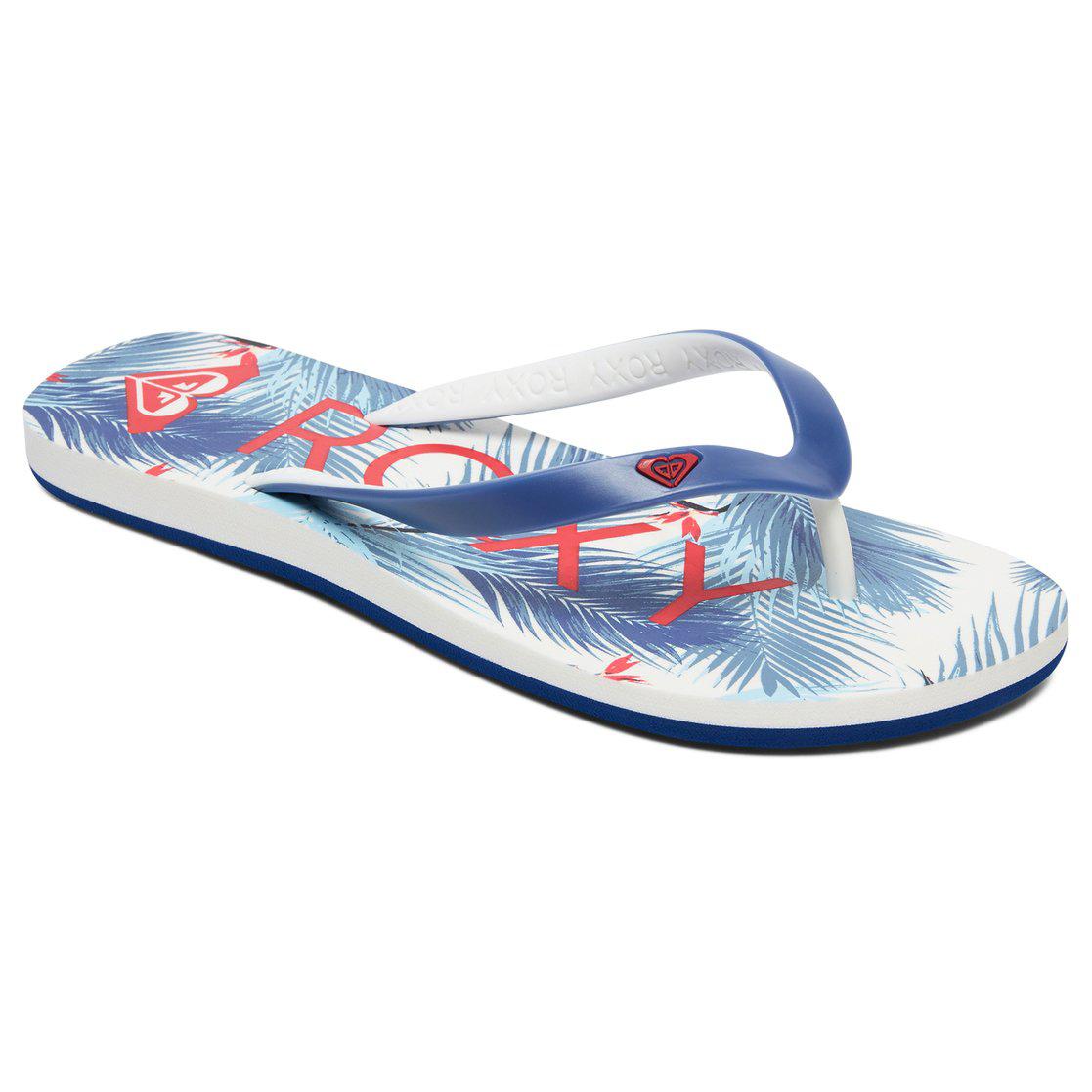 Roxy Women's Tahiti Vi Flip-Flops - Blue, 8