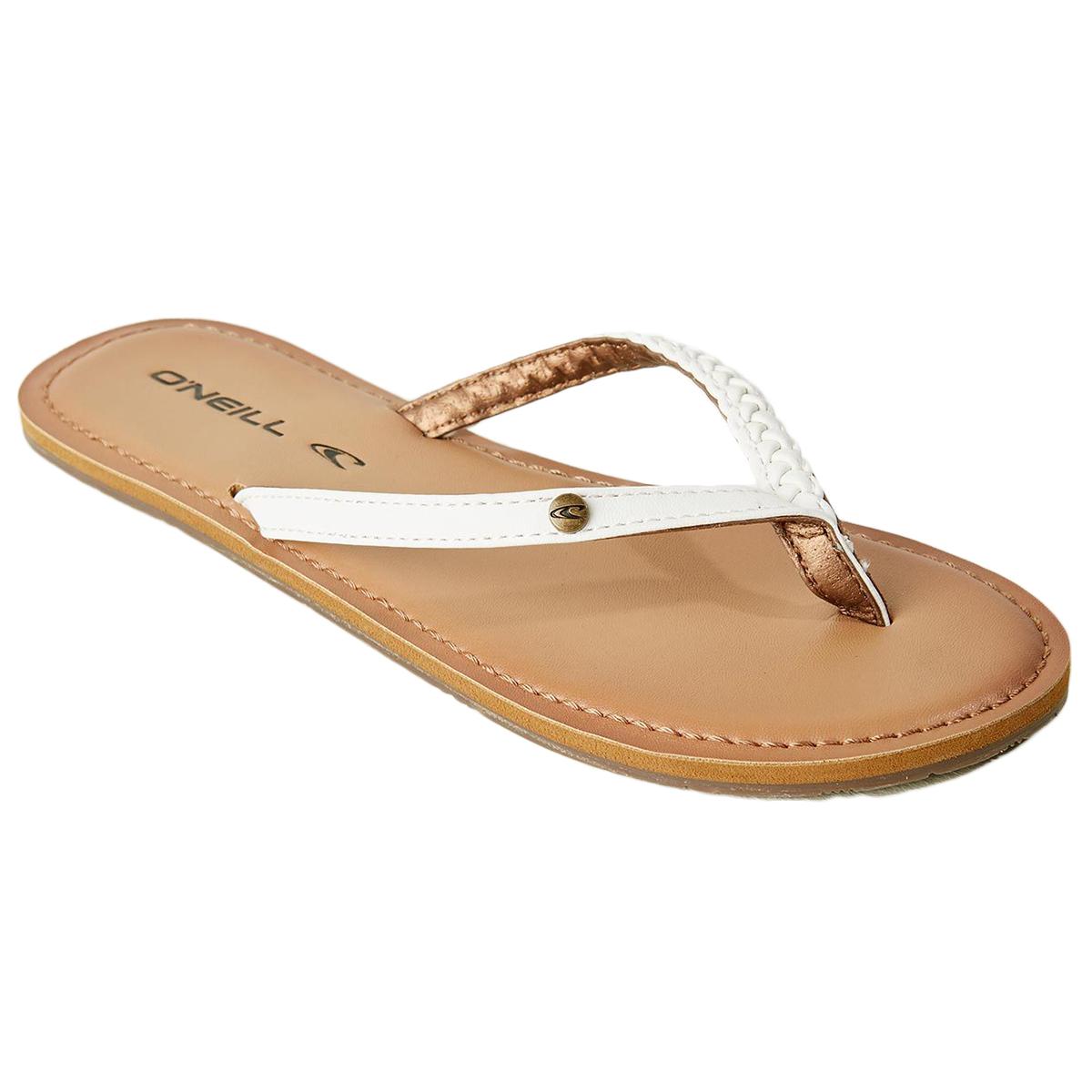 O'neill Women's Malibu Thong Sandal - White, 8