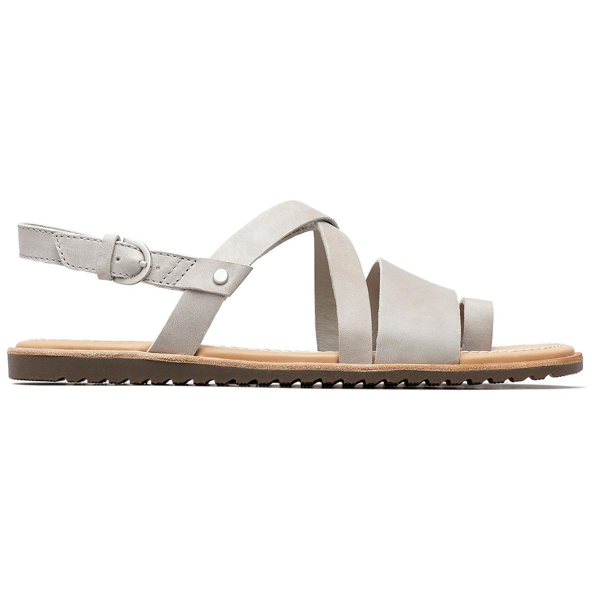 Sorel Women's Ella Criss Cross Sandals - Black, 8