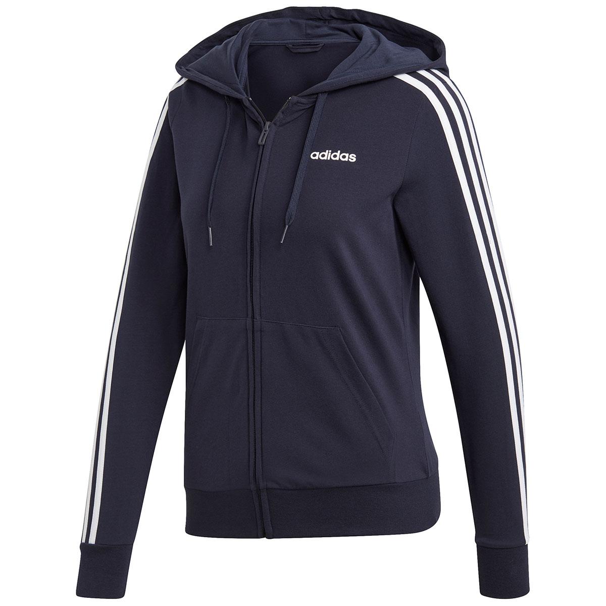 Adidas Women's Essentials 3-Stripes Hoody - Blue, S