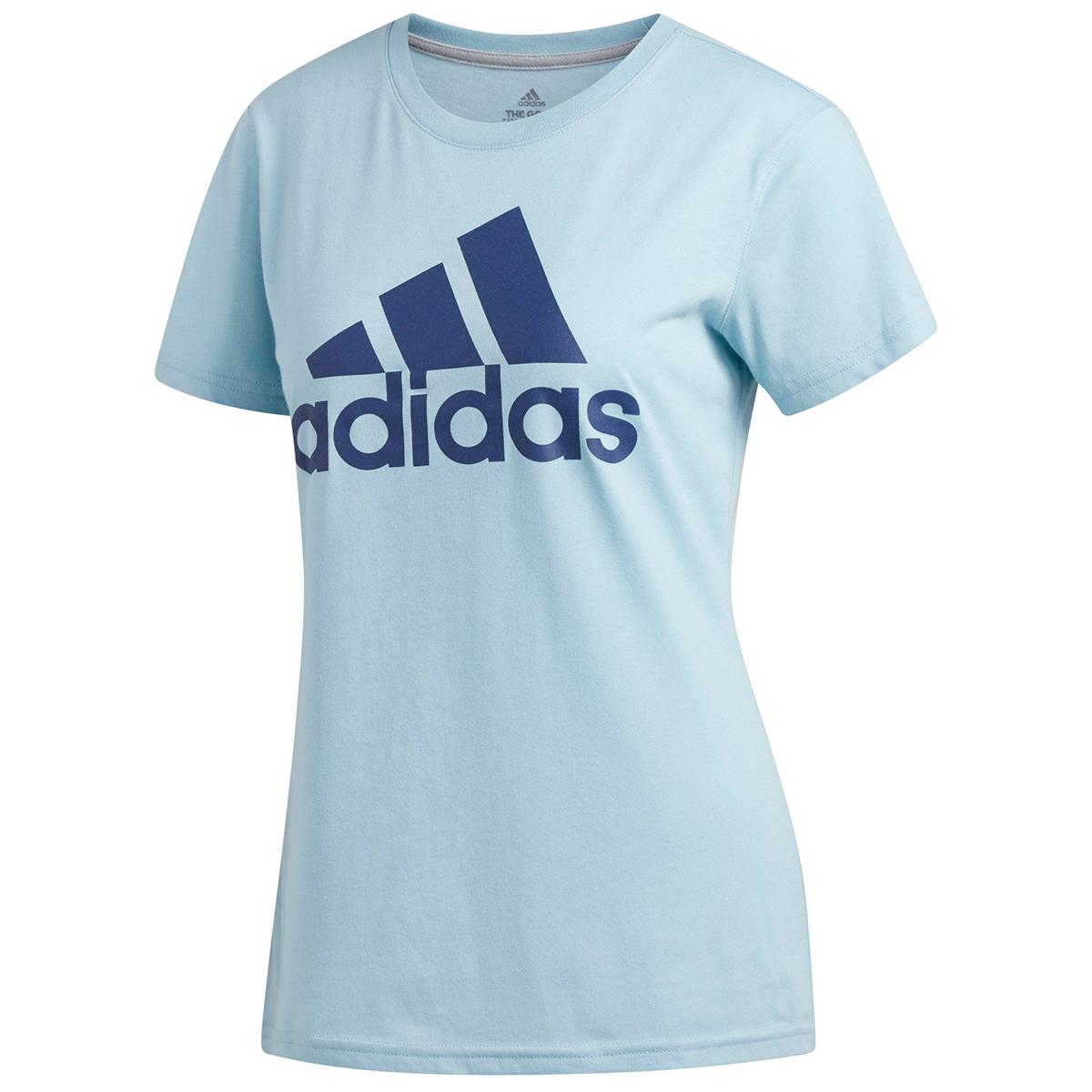 Adidas Women's Badge Of Sport Classic Short-Sleeve Tee - Blue, S
