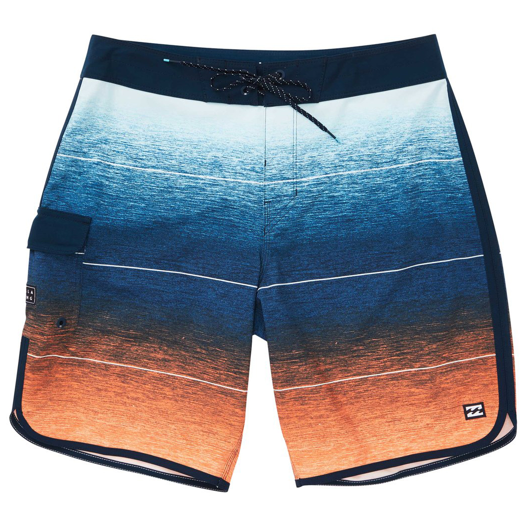 Billabong Guys' 73 Stripe Pro Boardshorts - Orange, 36