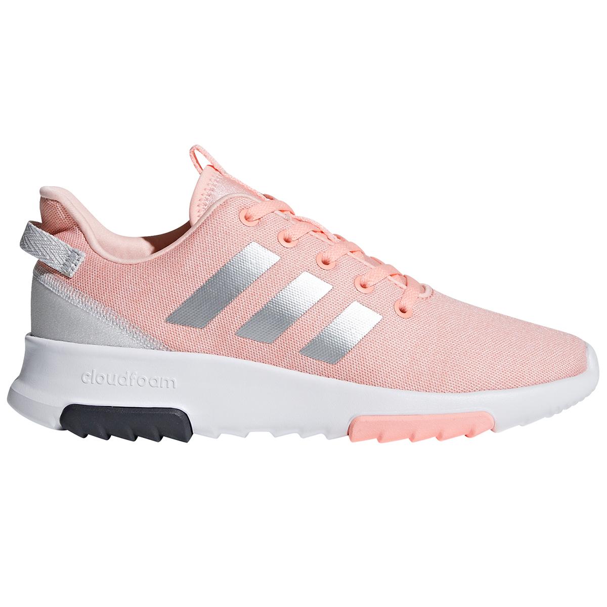 "Adidas Girls"" Cloudfoam Racer Tr Running Shoes - Orange, 5"