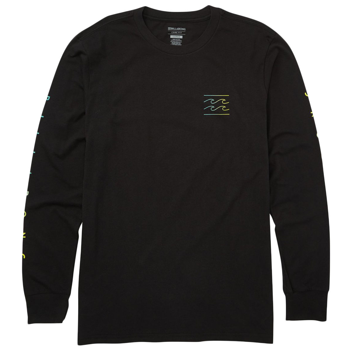 Billabong Guys' Unity Sleeves Long-Sleeve Tee - Black, M