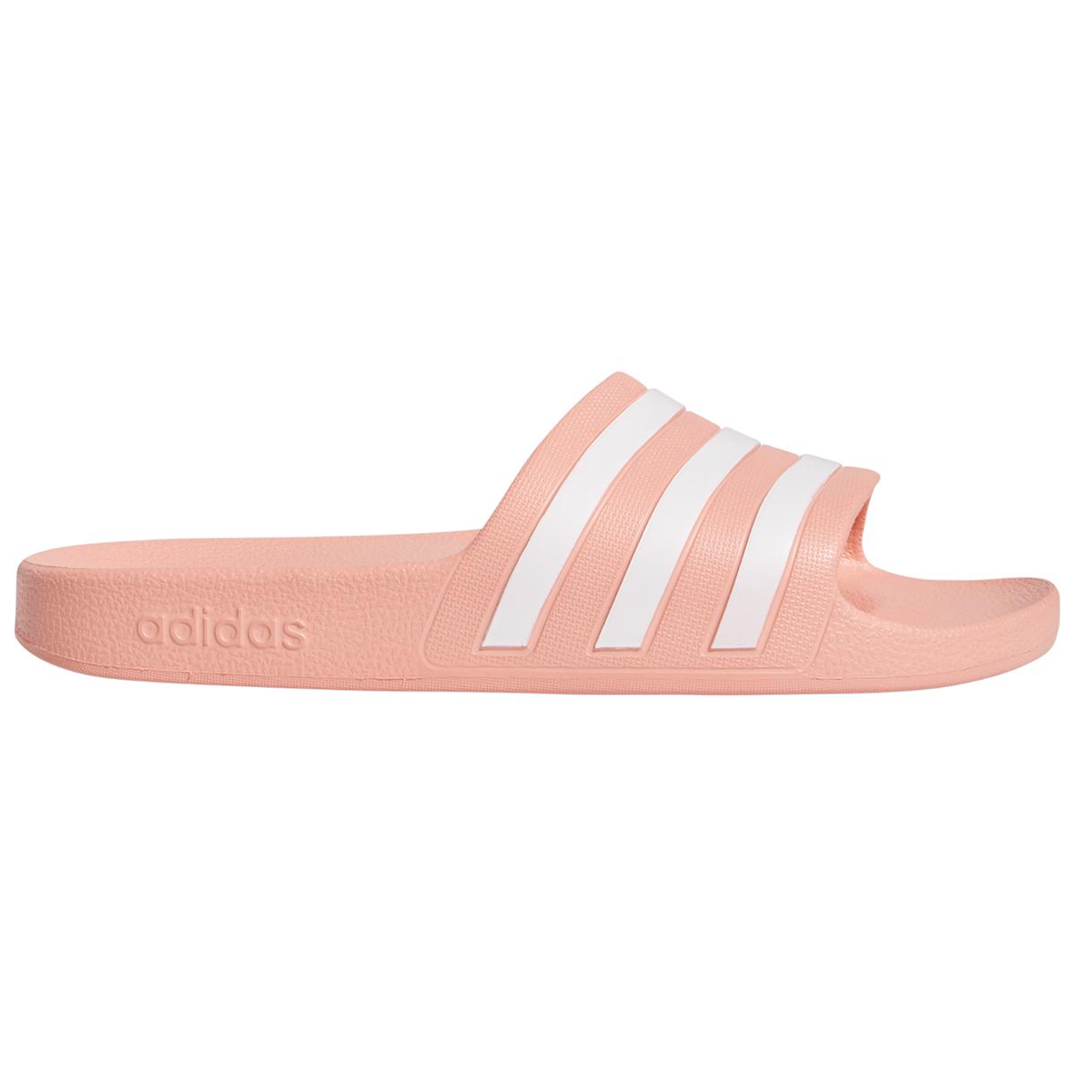 Adidas Women's Adilette Aqua Slide Sandals - Red, 9