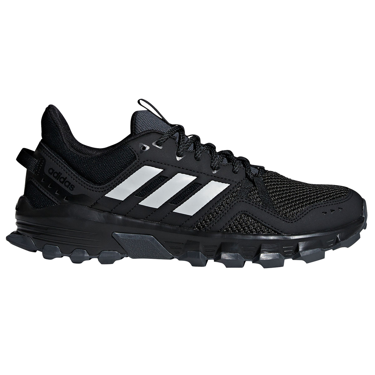 Adidas Men's Rockadia Trail Running Shoes - Black, 8.5