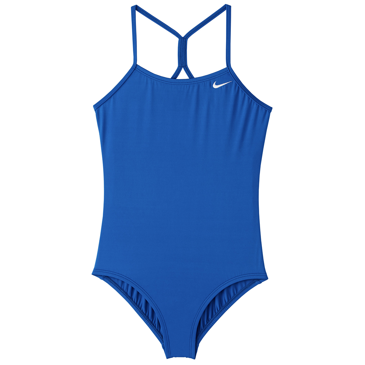 Nike Big Girls' Solid Racerback One-Piece Swimsuit - Blue, S