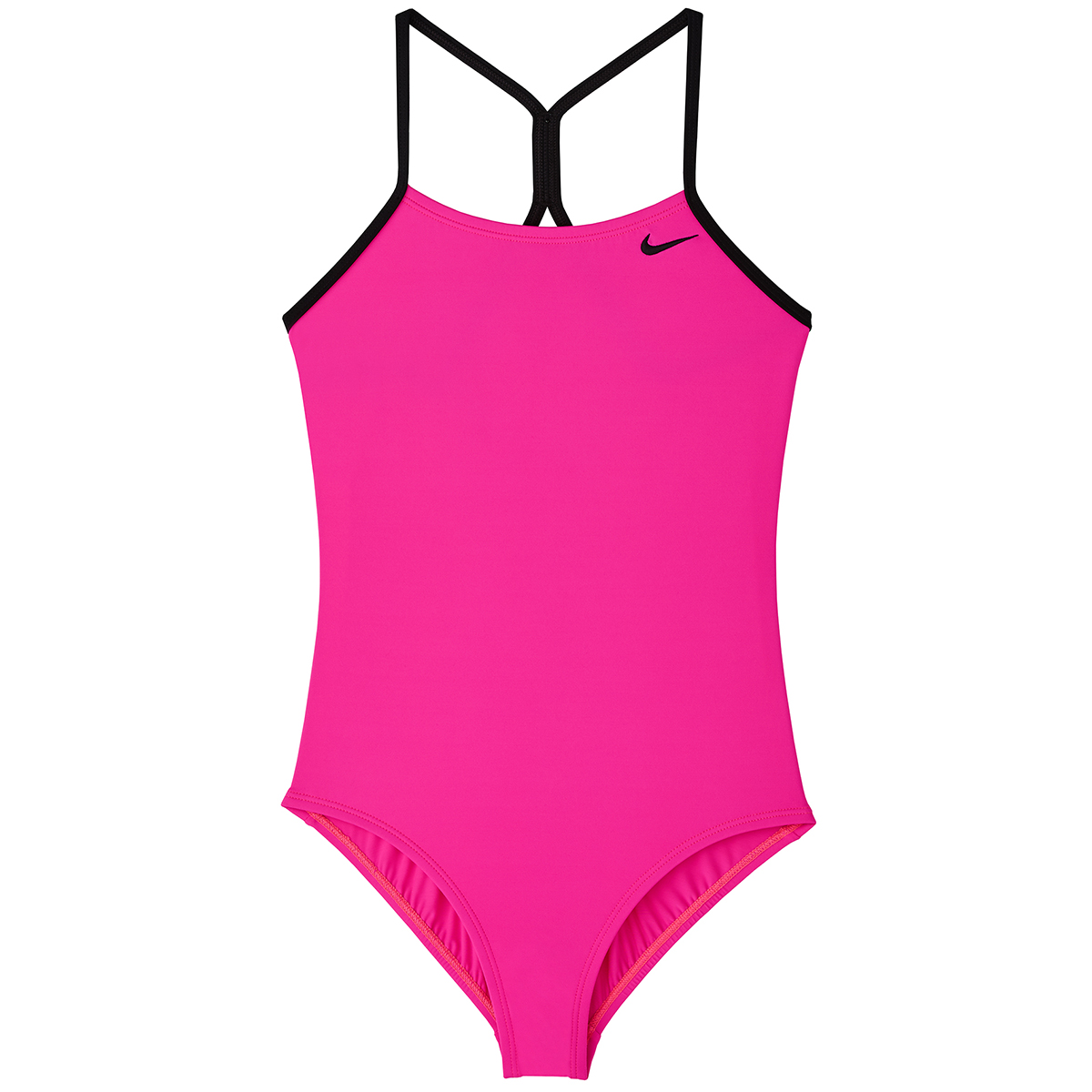 Nike Big Girls' Solid Racerback One-Piece Swimsuit - Red, M