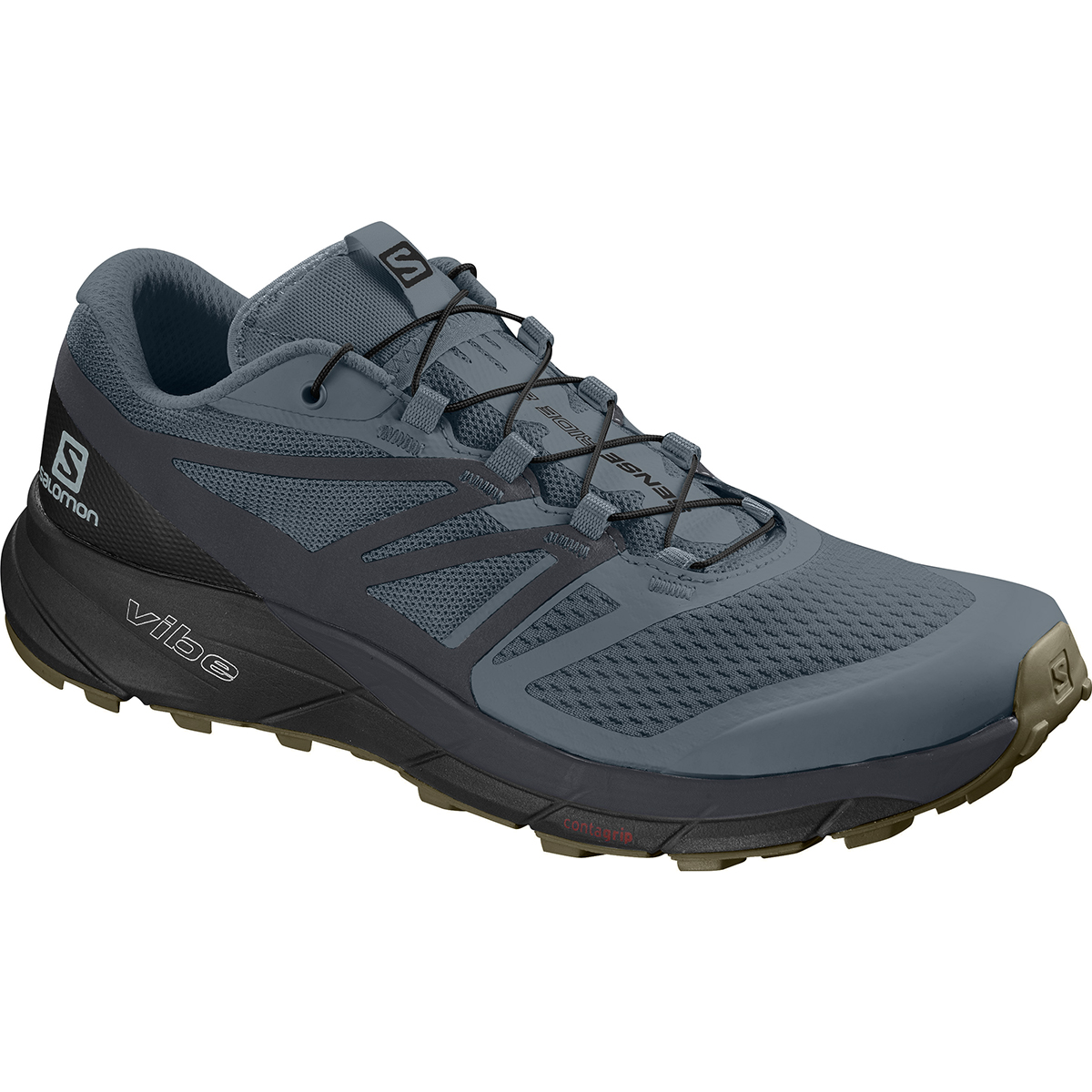 Salomon Men's Sense Ride 2 Trail Running Shoes - Black, 13