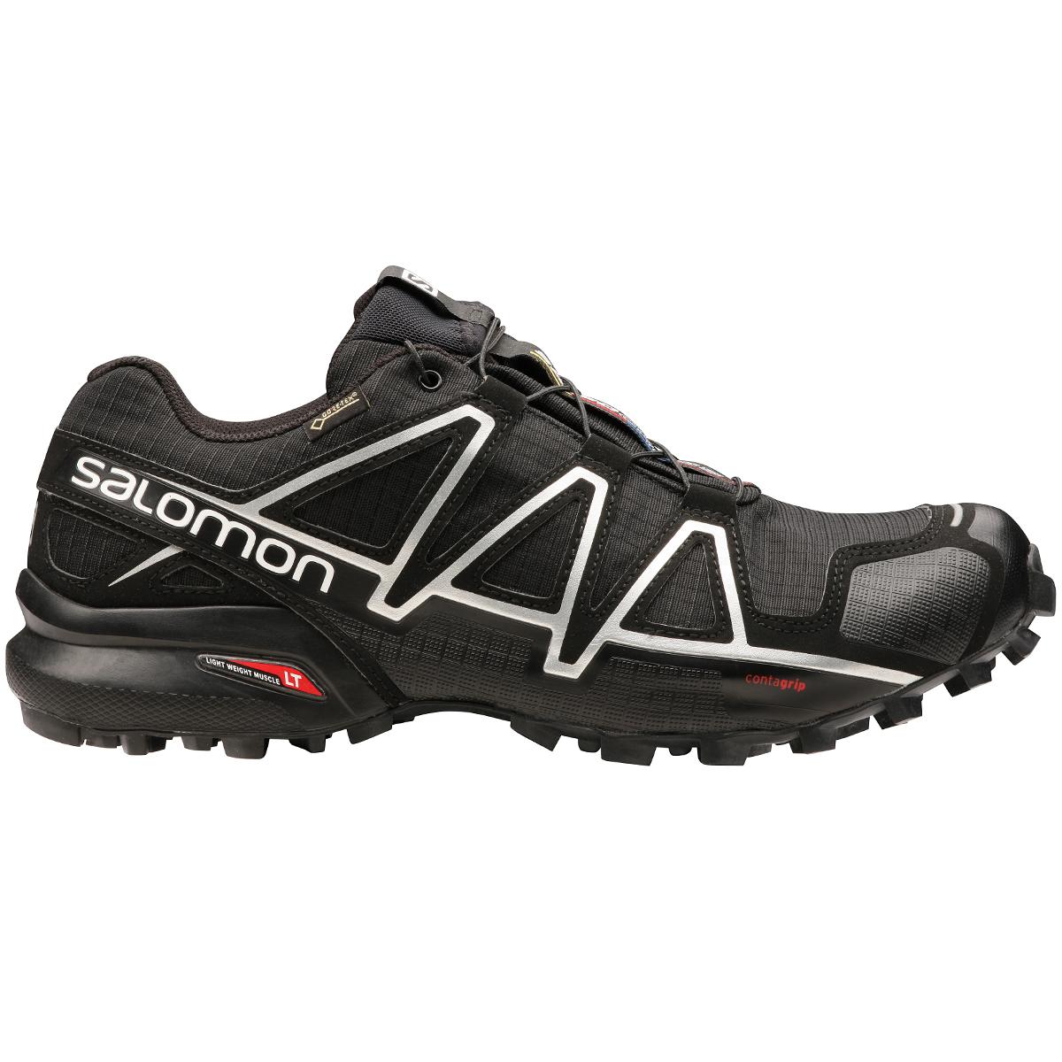 Salomon Men's Speedcross 4 Gtx Trail Running Shoes - Black, 13
