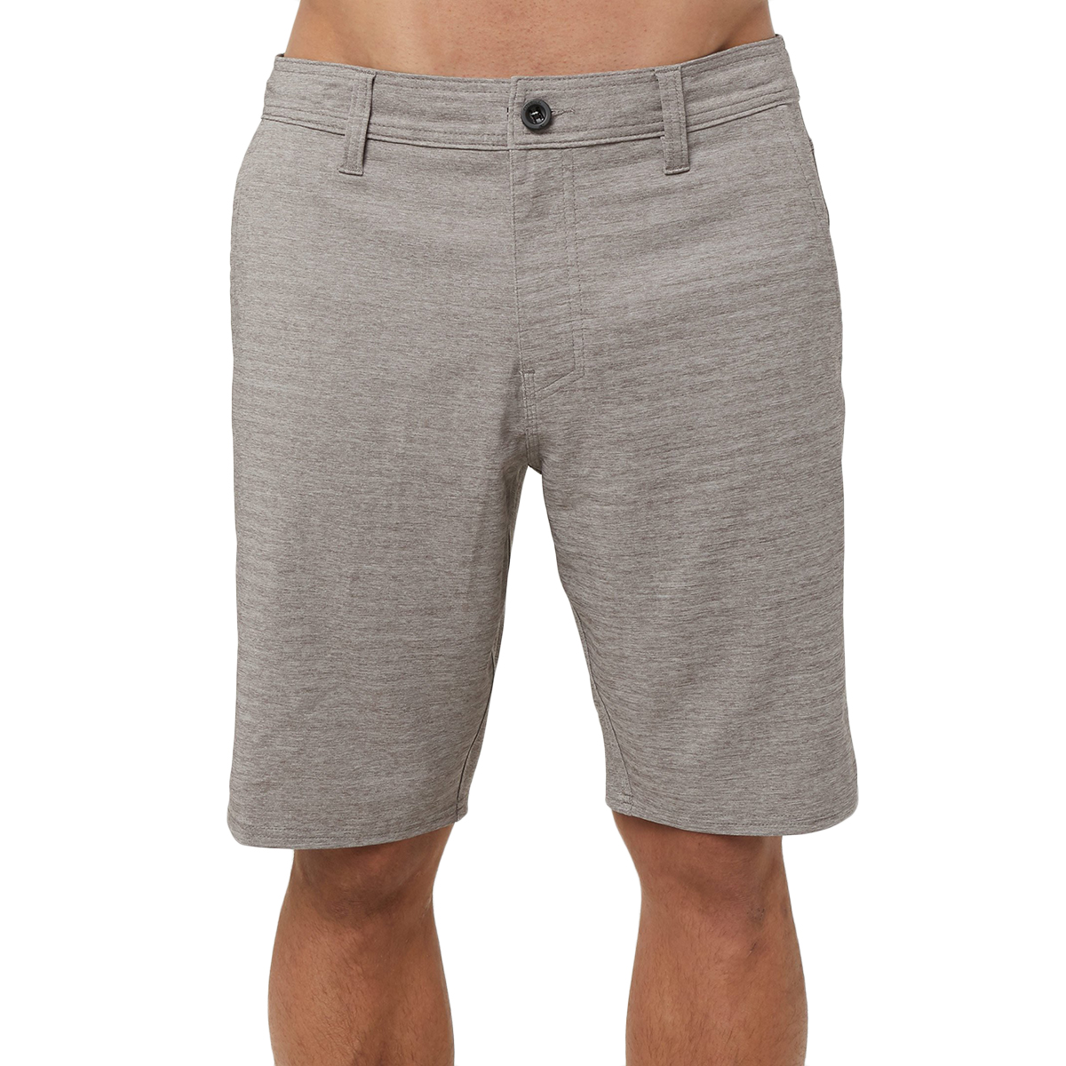O'neill Men's Locked Heather Herringbone Hybrid Shorts - Black, 34