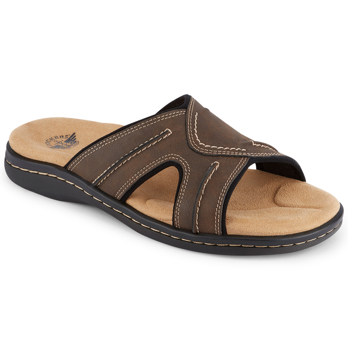 Dockers Men's Sunland Slide Sandal - Brown, 10
