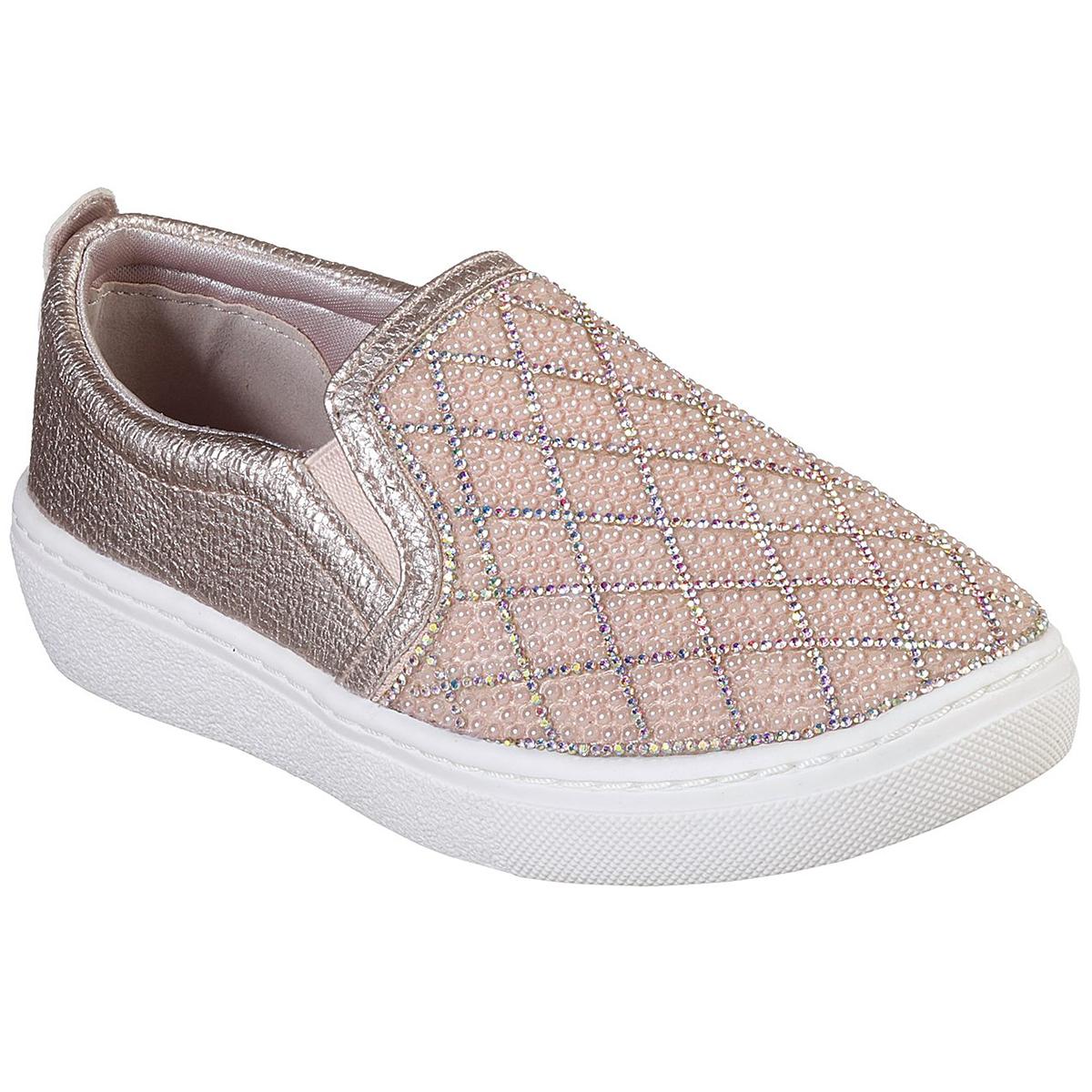 Skechers Little Girls' Goldie Diamond Darling Slip On Sneakers - Red, 3.5