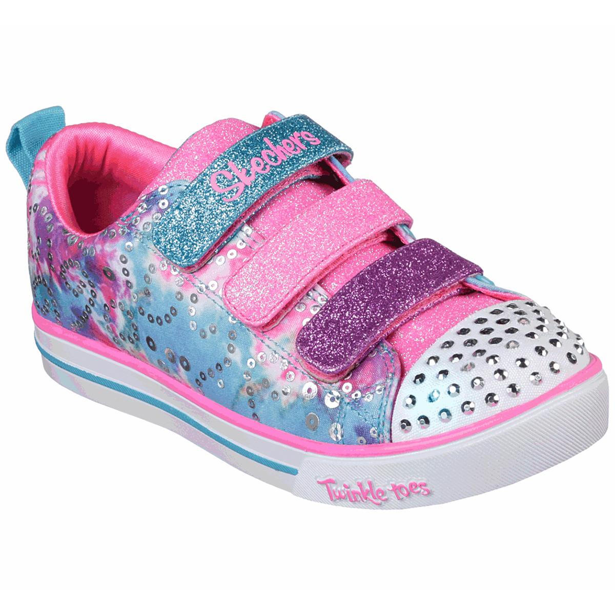 Skechers Little Girls' Sparkle Lite Sneakers - Various Patterns, 1.5