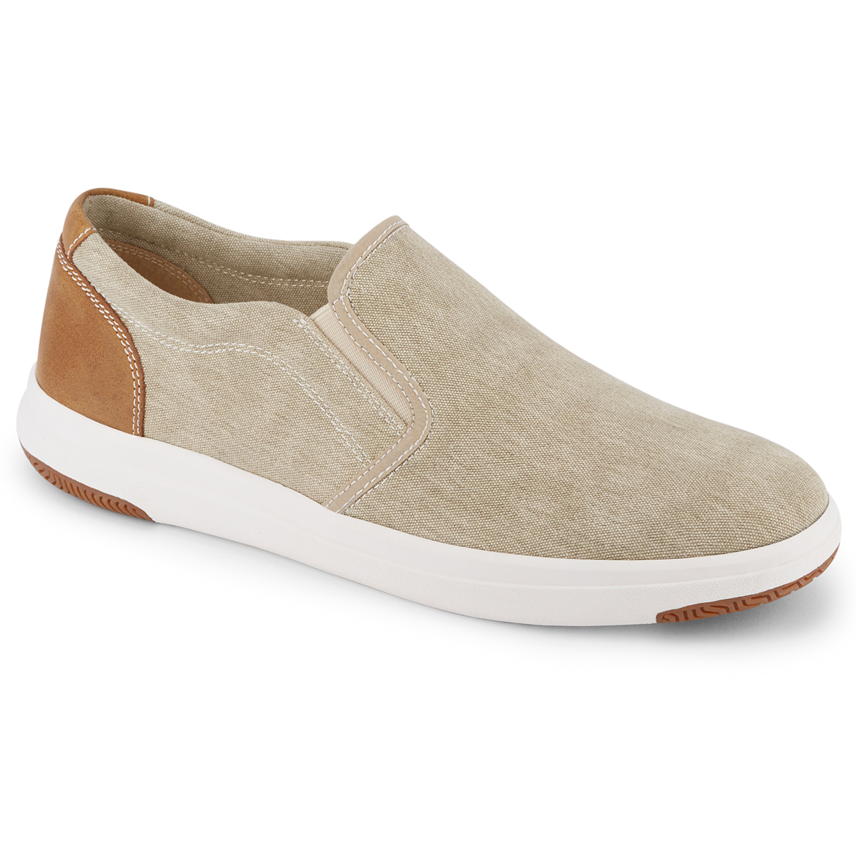 Dockers Men's Nobel Canvas Slip On Sneaker - Brown, 9