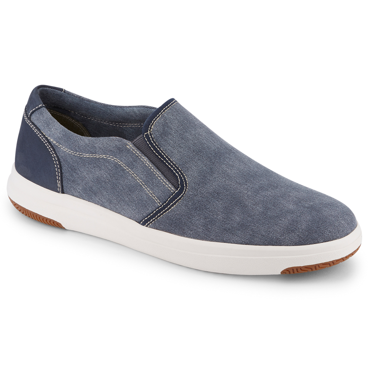 Dockers Men's Nobel Canvas Slip On Sneaker - Blue, 10