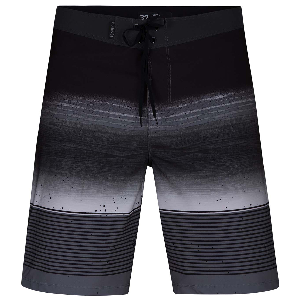 "Hurley Young Men's Phantom Overspray 20"" Board Shorts - Black, 32"