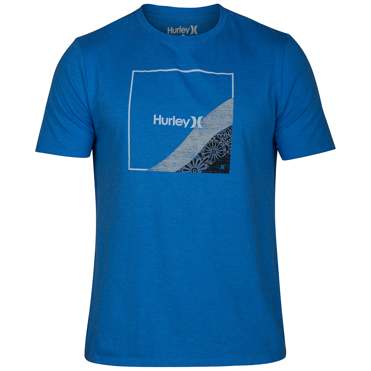 Hurley Young Men's Fader Short-Sleeve T-Shirt - Blue, L