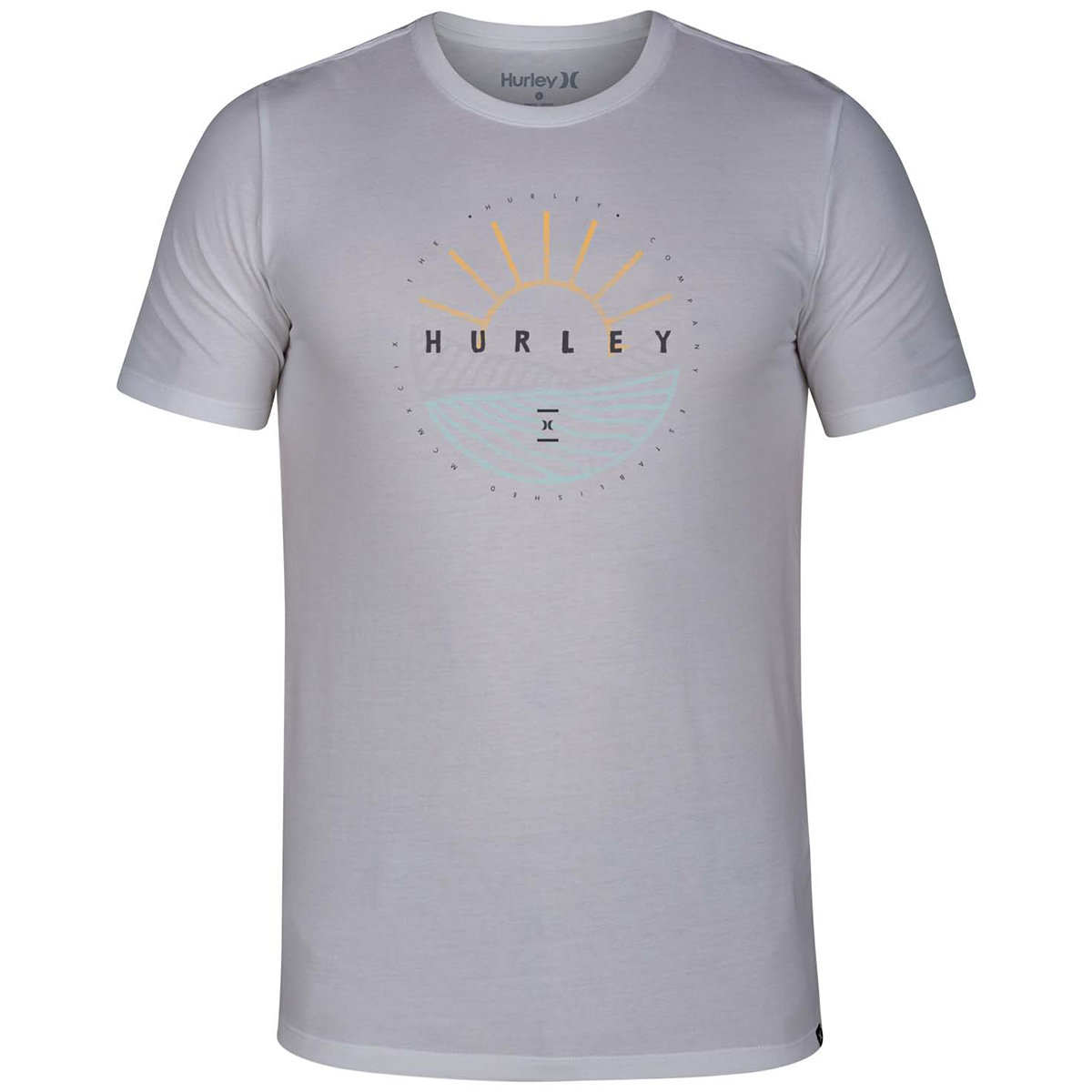 Hurley Young Men's Dri Fit Dawn Breaking Tee - White, M