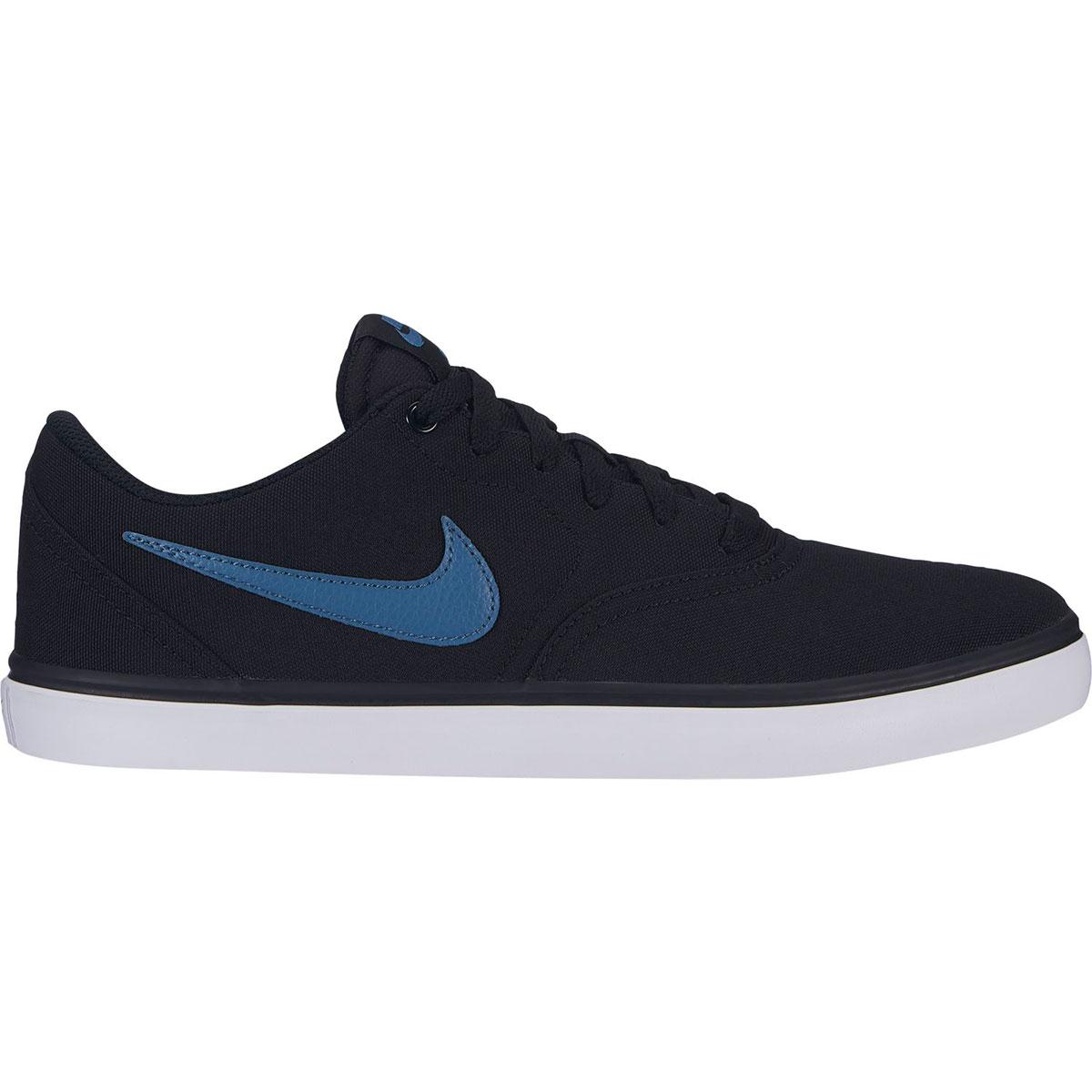 Nike Sb Men's Check Solar Canvas Skate Shoes - Black, 10