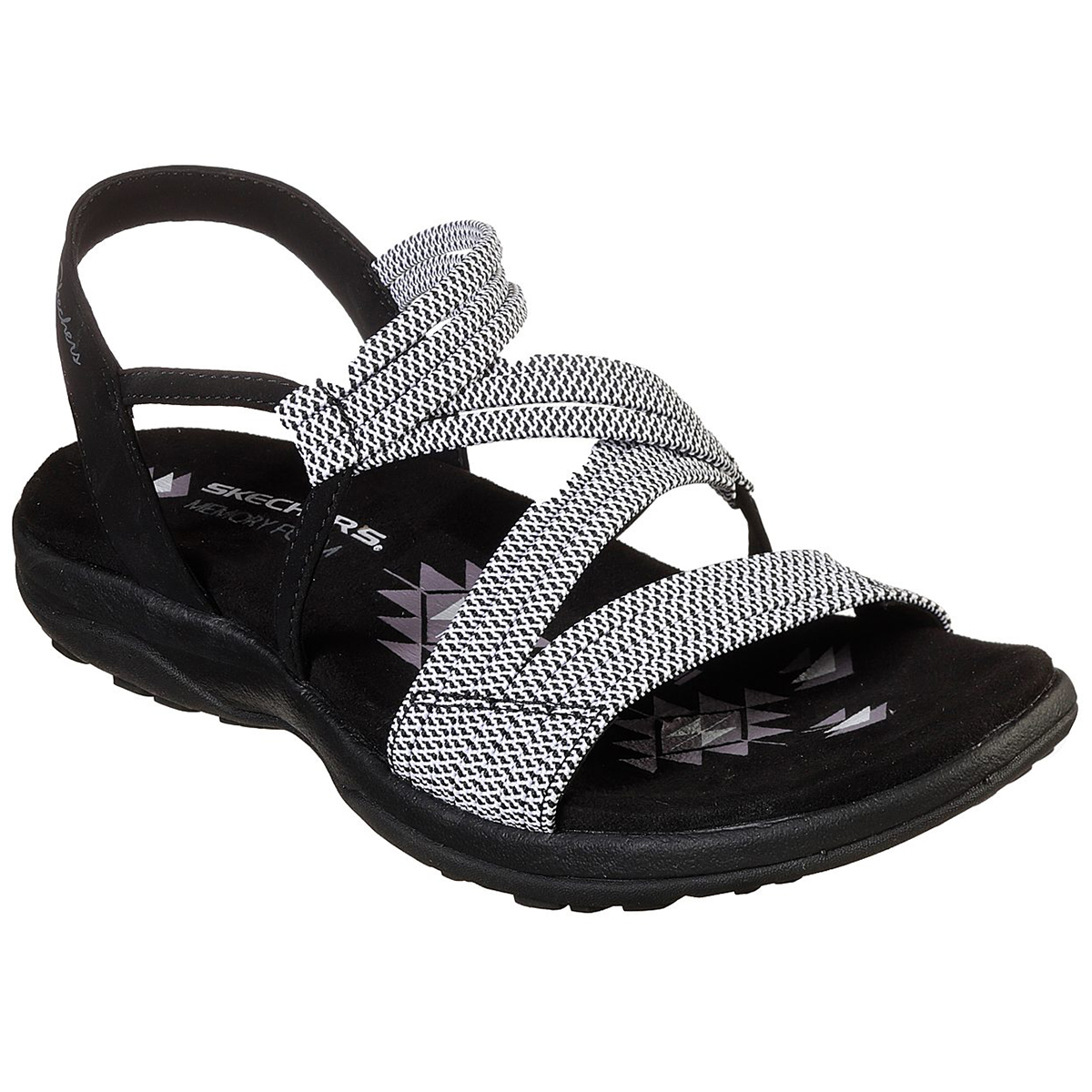Skechers Women's Reggae Slim Z Sandal - Black, 10