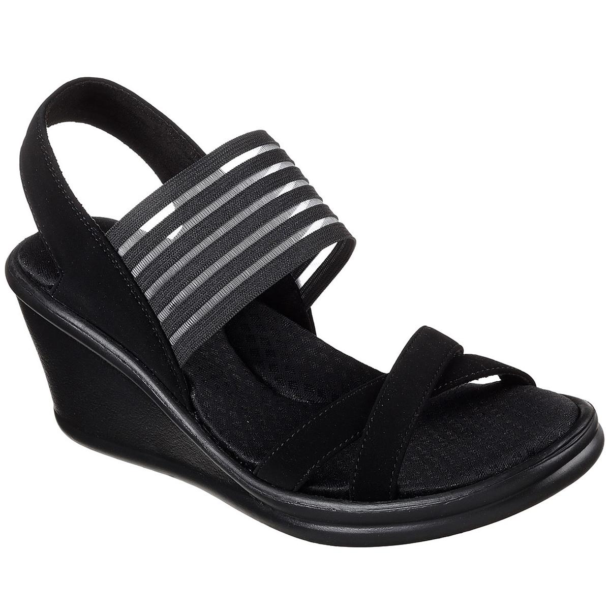 Skechers Women's Rumbler Solar Burst Sandal - Black, 7