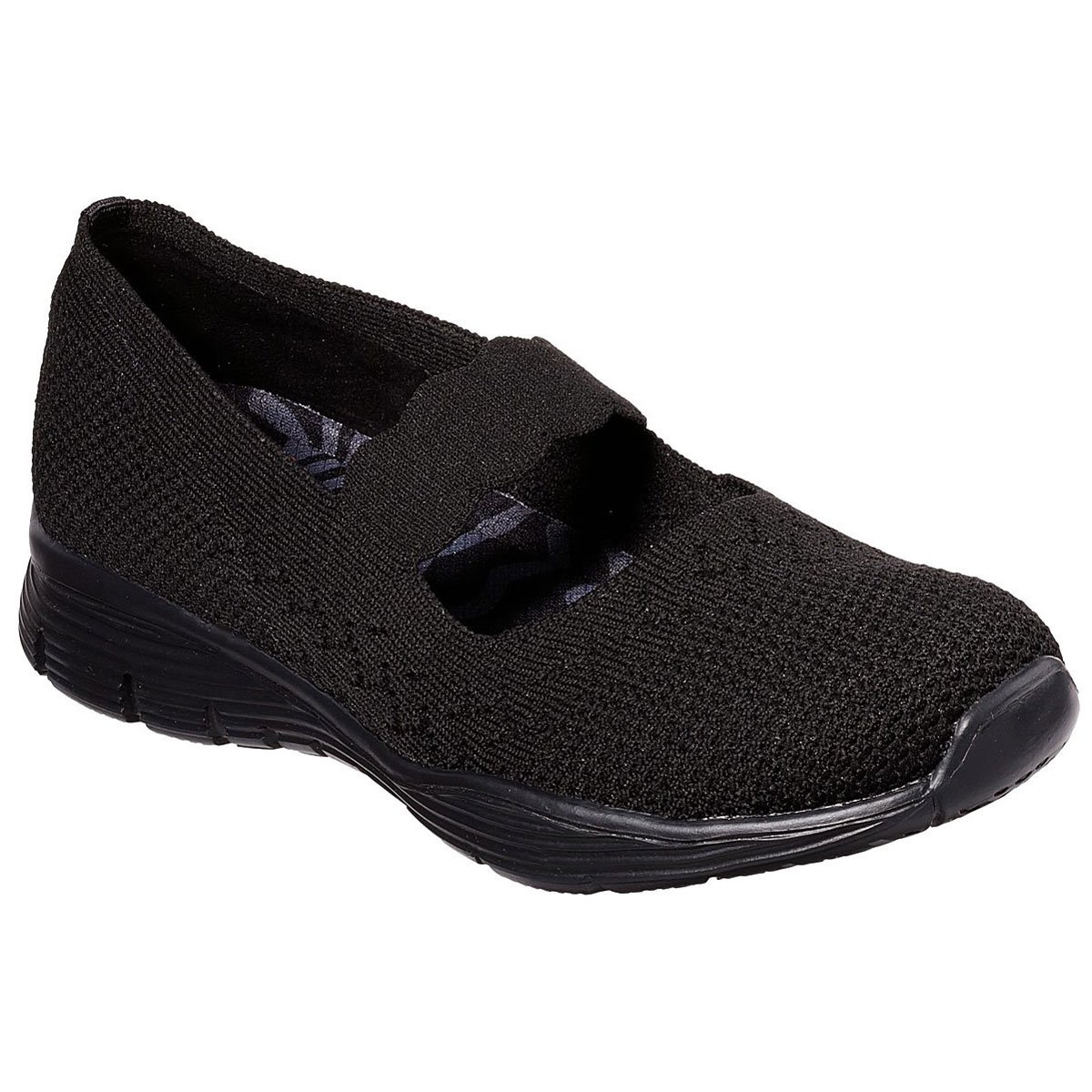 Skechers Women's Seager Power Hitter Shoes - Black, 8