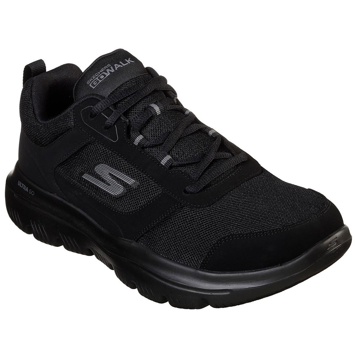 Skechers Men's Gowalk Evolution Ultra Enhance Walking Shoes - Black, 9.5