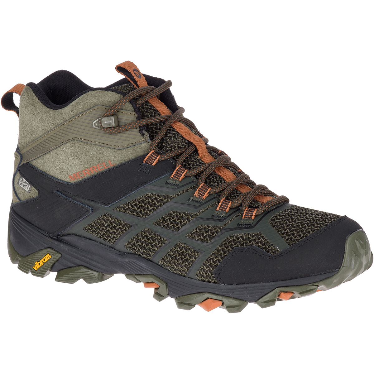 Merrell Men's Moab Fst 2 Mid Waterproof Hiking Boots - Green, 10