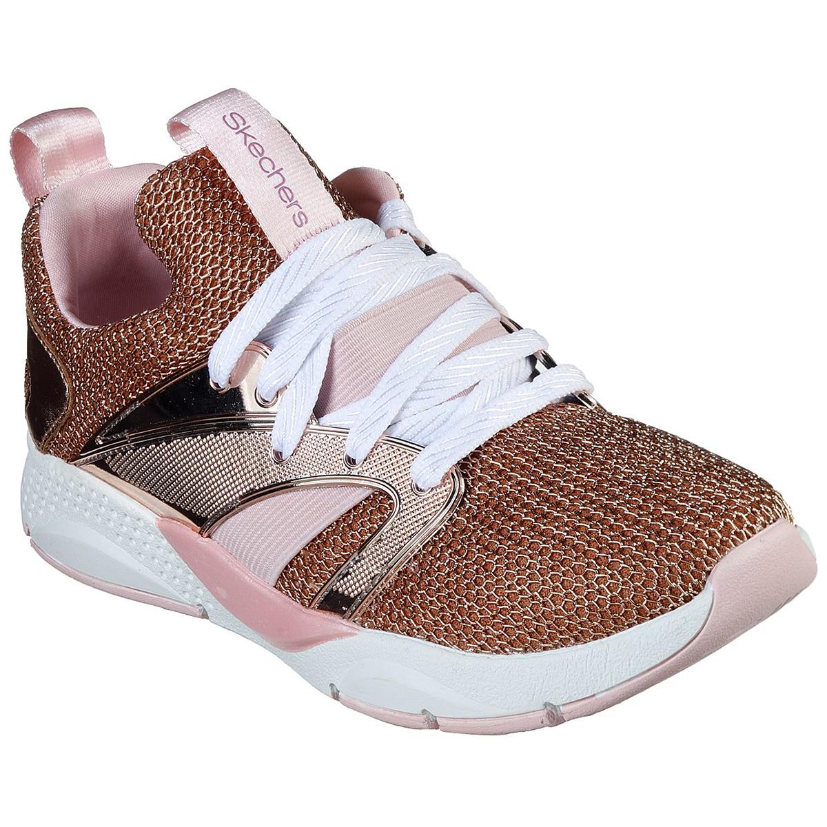 Skechers Girls' Shine Status Sneaker - Red, 1
