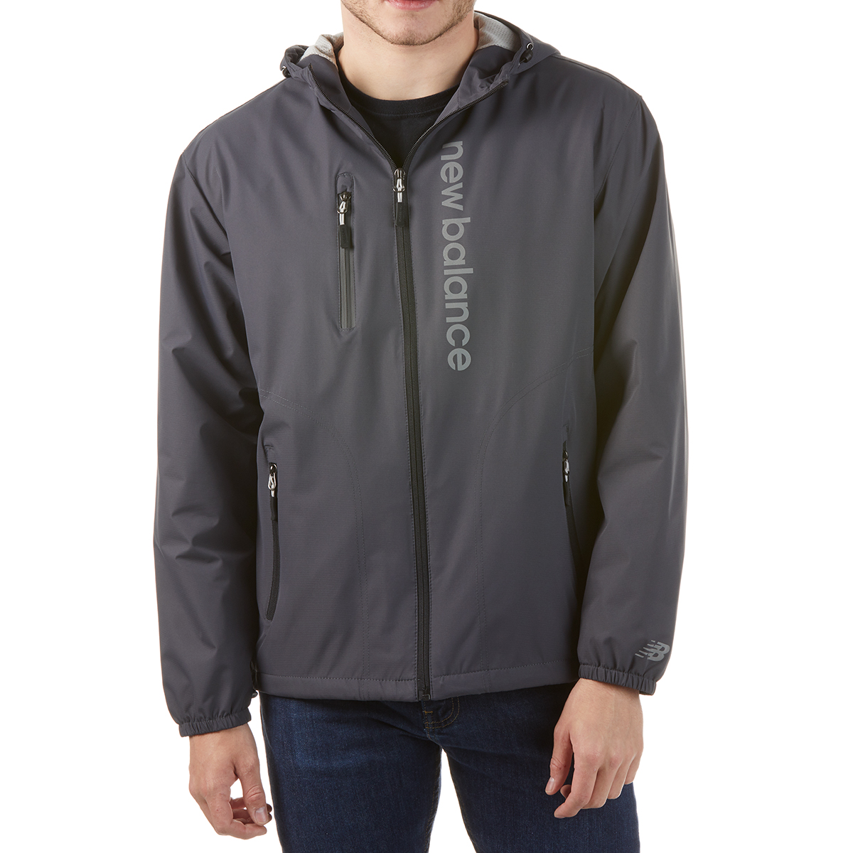 New Balance Men's Poly Dobby Signature Jacket - Black, M