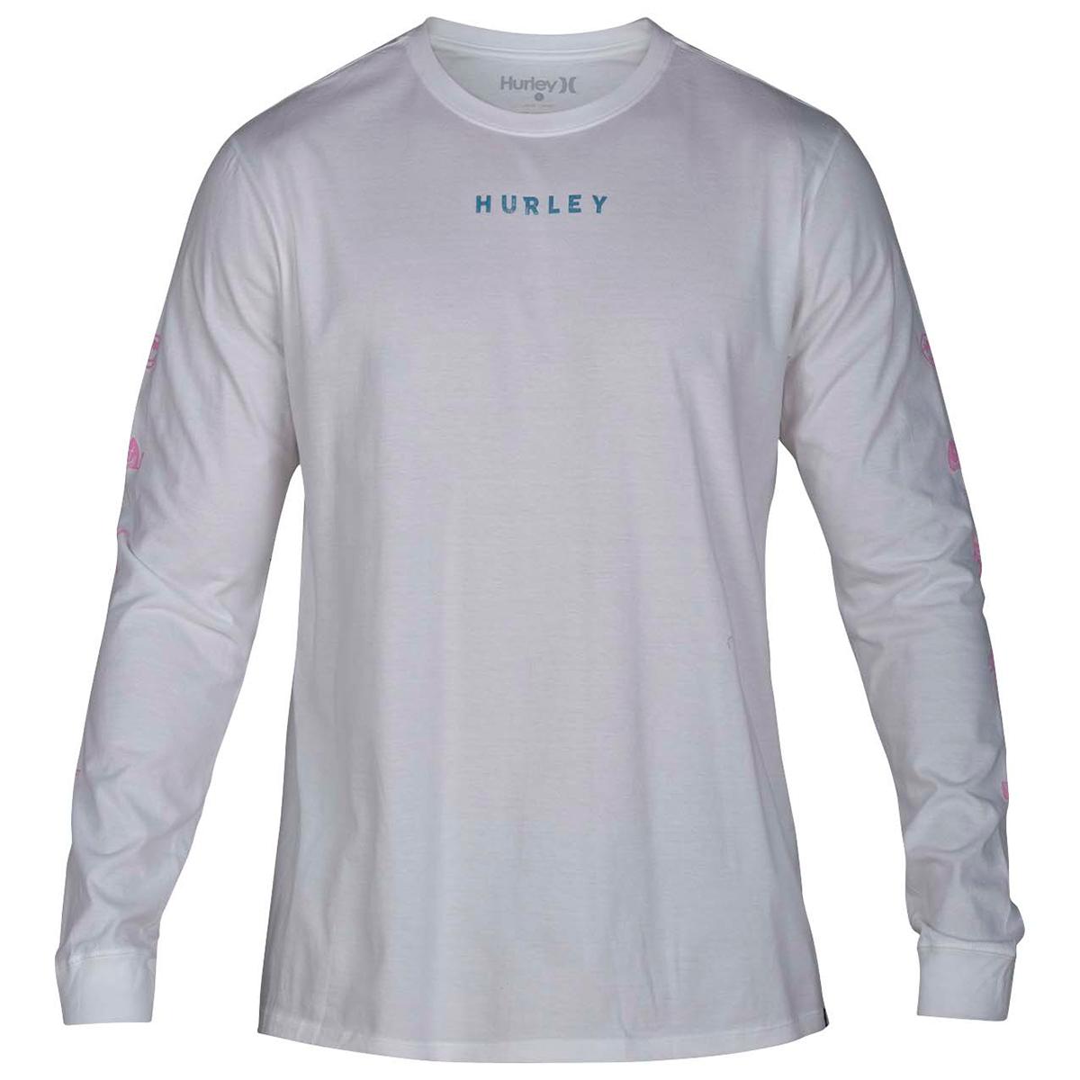 Hurley Men's Baby Burn Long-Sleeve Tee - White, XL