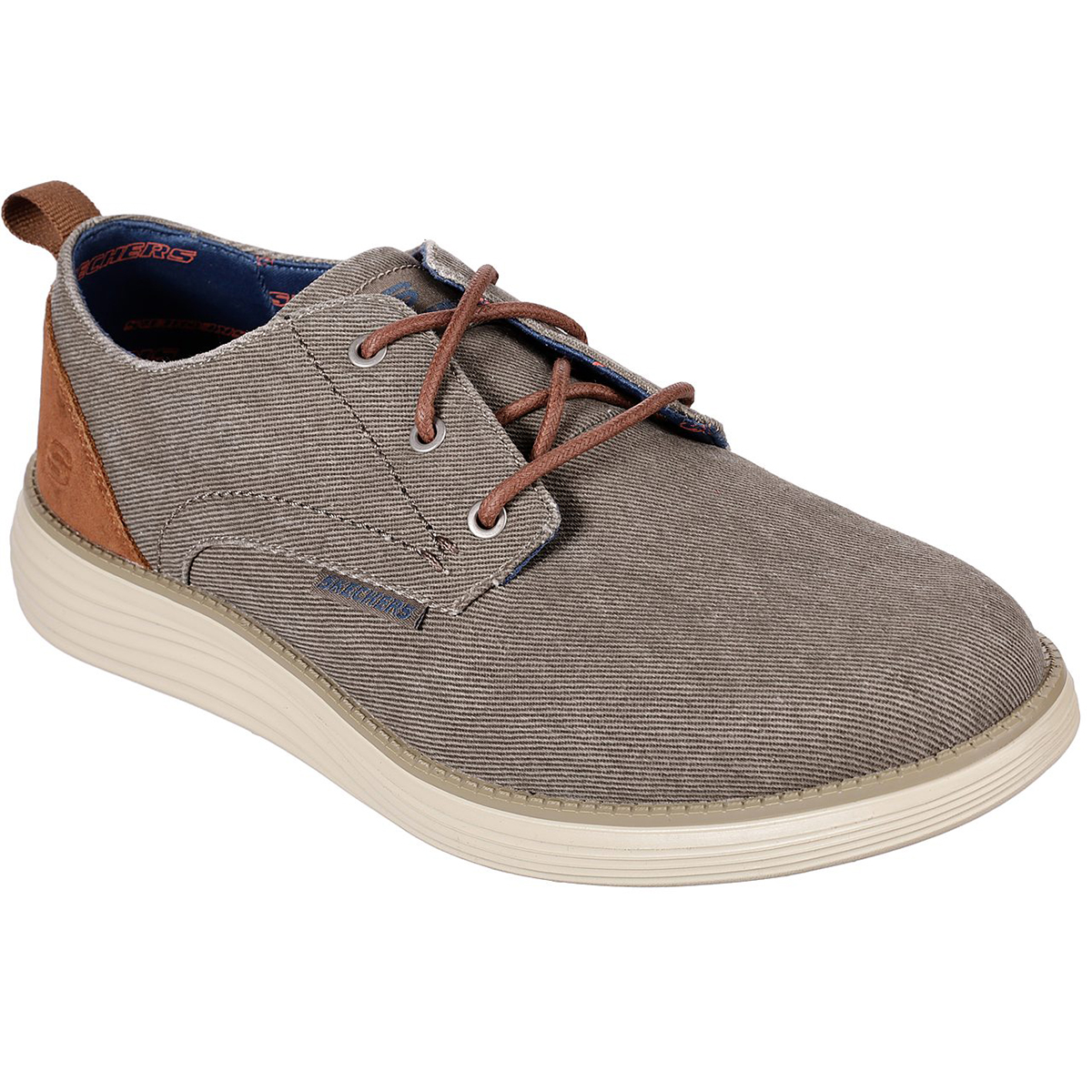 Skechers Men's Status 2.0 Pexton Oxford Shoes - Brown, 9