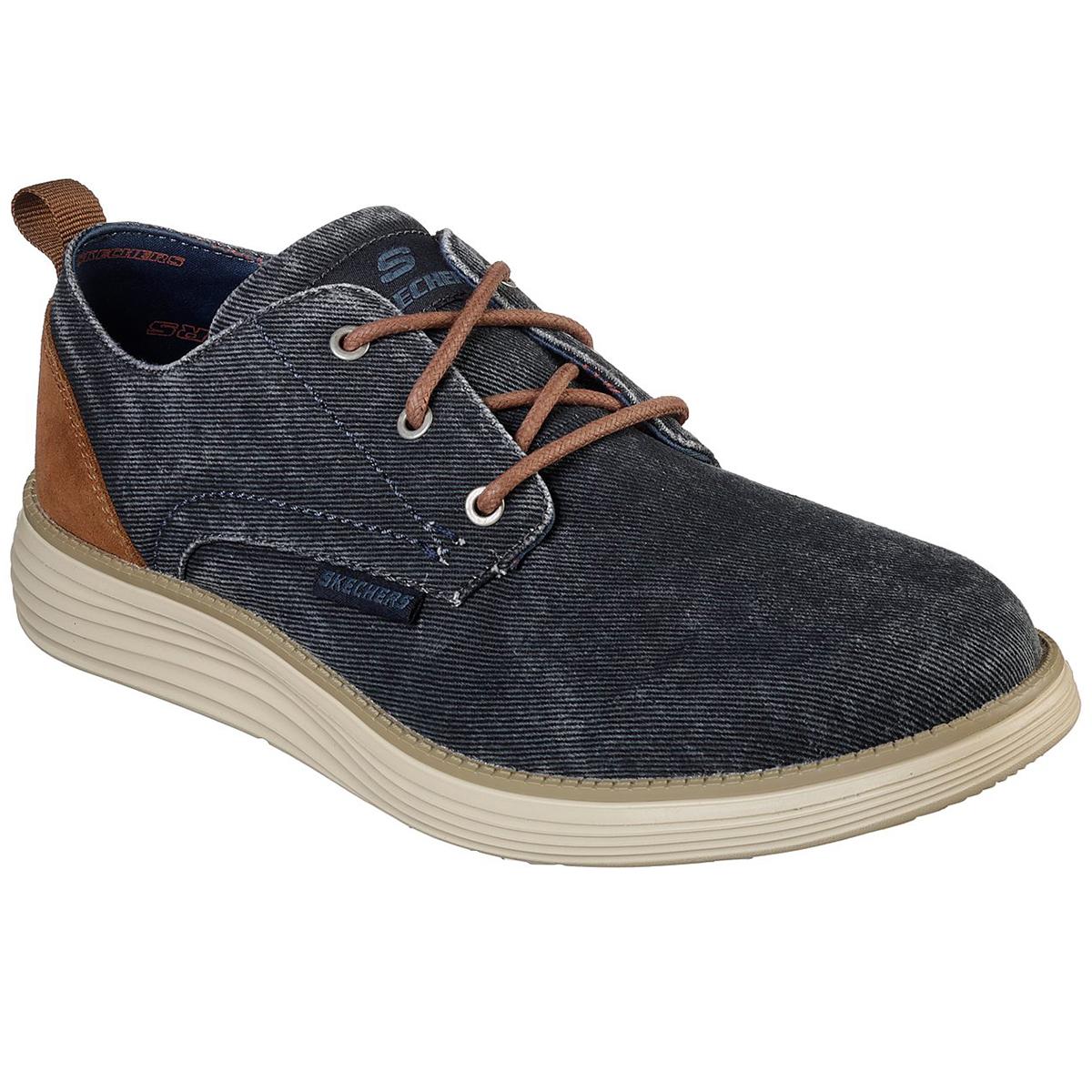 Skechers Men's Status 2.0 Pexton Oxford Shoes - Blue, 9.5